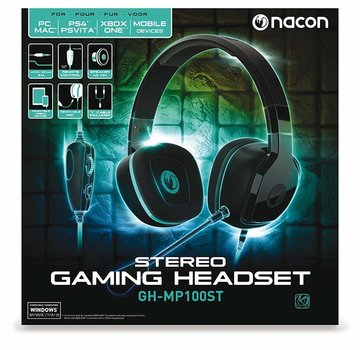 Bigben Interactive Nacon GH-100ST Wired Stereo Gaming Headset (zwart)