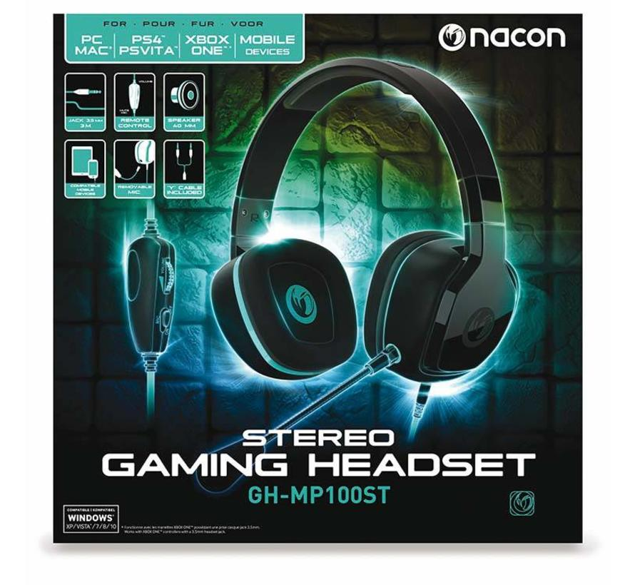 Nacon GH-100ST Wired Stereo Gaming Headset (zwart)