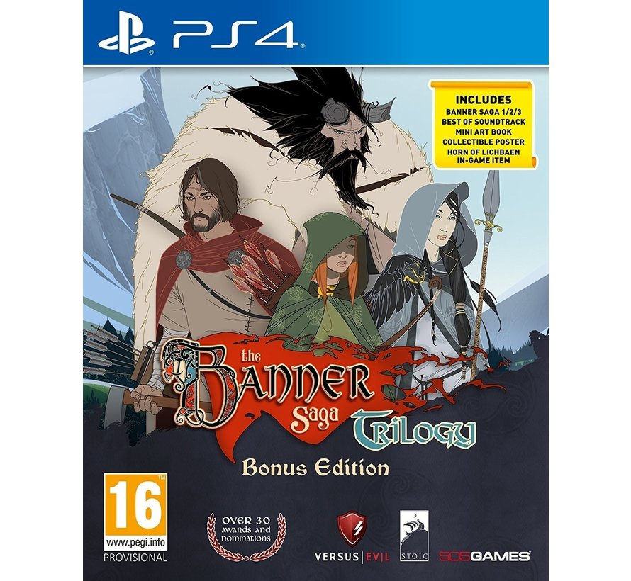 PS4 The Banner Saga Trilogy Bonus Edition
