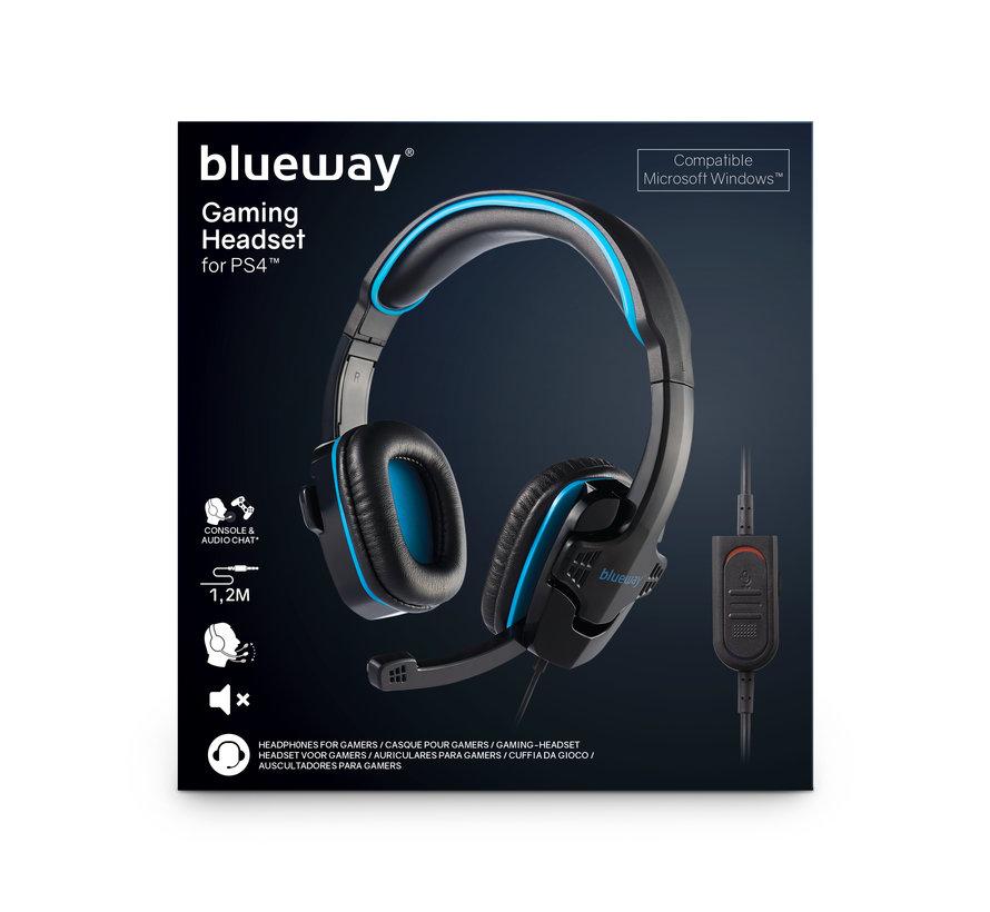 Blueway Stereo Gaming Headset Zwart/Blauw kopen