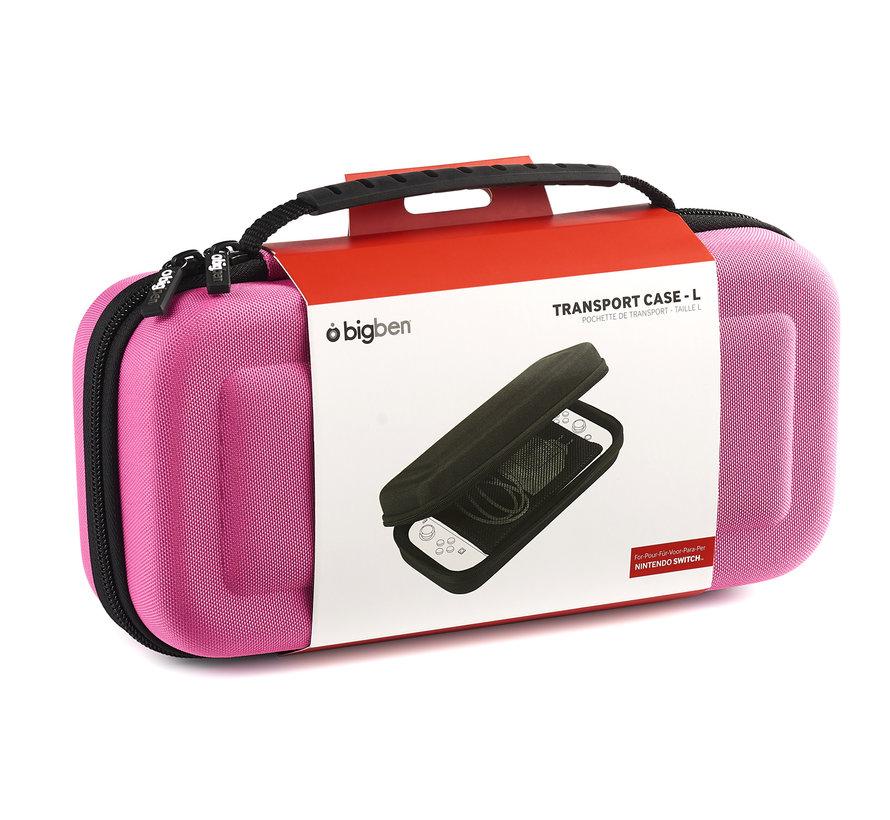 Bigben Transport Case Nintendo Switch Groot (roze) kopen