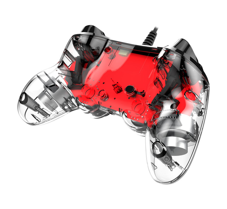 PS4 Nacon Illuminated Wired Compact Official Licensed Controller (rood) kopen