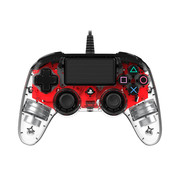 Nacon PS4 Nacon Illuminated Wired Compact Official Licensed Controller (rood)