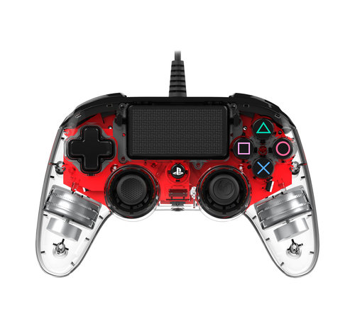 Nacon PS4 Nacon Illuminated Wired Compact Official Licensed Controller (rood) kopen
