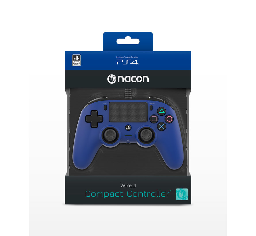 PS4 Nacon Wired Compact Official Licensed Controller (blauw) kopen