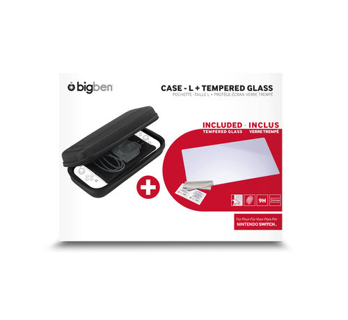 Bigben Interactive Bigben Transport Case + Tempered Glass Screen Protector kopen