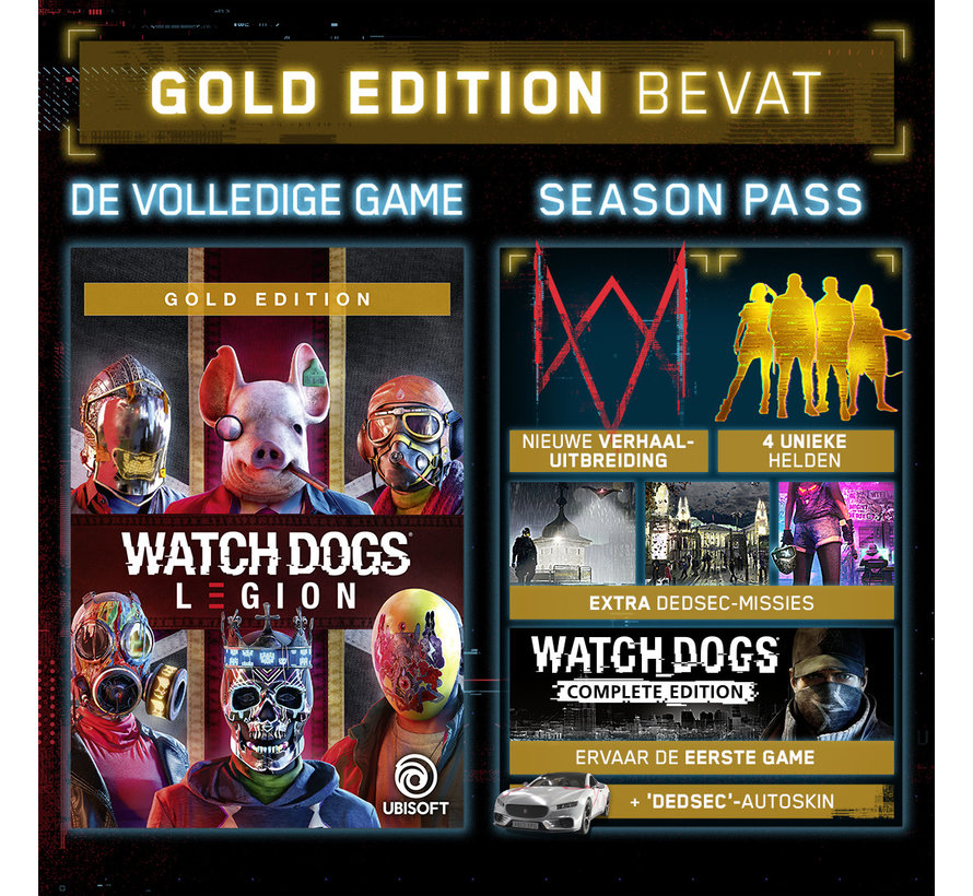 PS4 Watch Dogs: Legion Gold Edition + Steelbook kopen