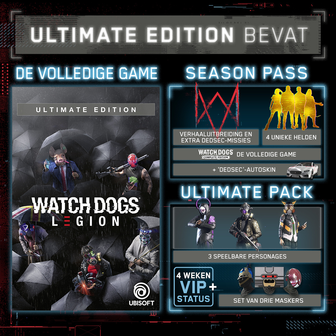 Xbox One Watch Dogs Legion Ultimate Edition Kopen Allyourgames Nl