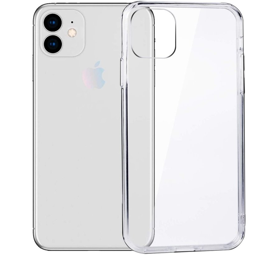 Iphone 11 hoesje/cover siliconen extra dun transparant