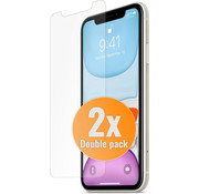 JVS Products 2 Stuks - iPhone 11 Tempered Glass Screenprotector Protection Kit - Apple iPhone 11 - Screen Protector Set - Dual Pack