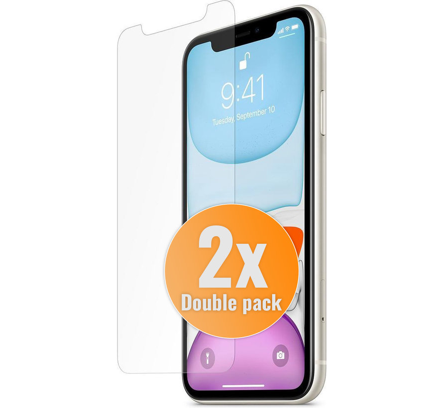 2X Double pack iPhone 11 Screen protector kopen