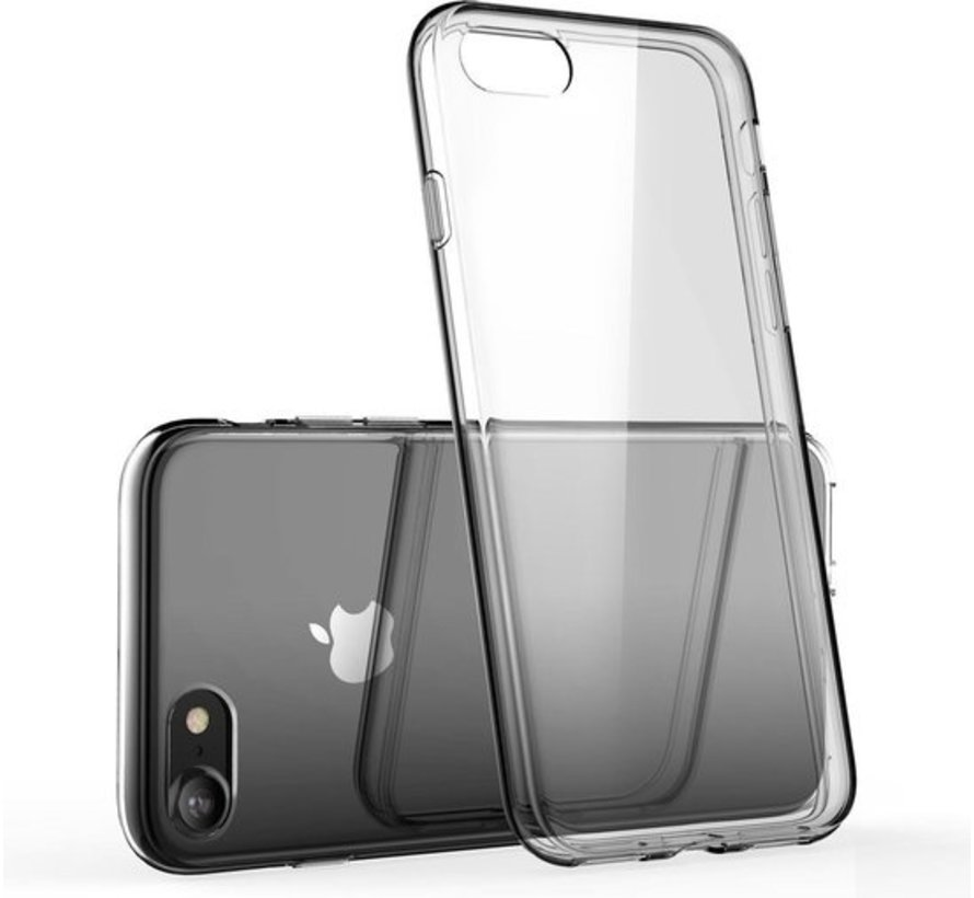 iPhone 8 Transparant Back Cover Hoesje - Extra Dun - Siliconen - Cover- Case - Apple iPhone 8