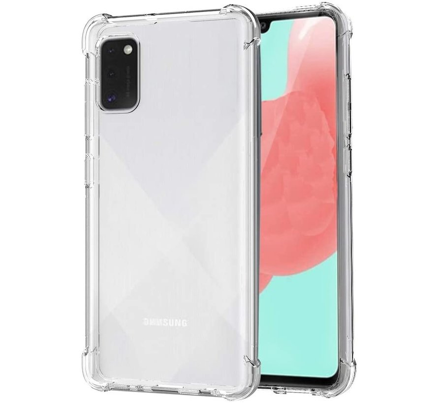 Samsung A41 Hoesje/cover siliconen extra dun transparant