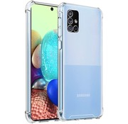 JVS Products Samsung A71 Hoesje/cover siliconen anti-shock transparant