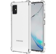 JVS Products Samsung A51 Hoesje/cover siliconen anti-shock transparant