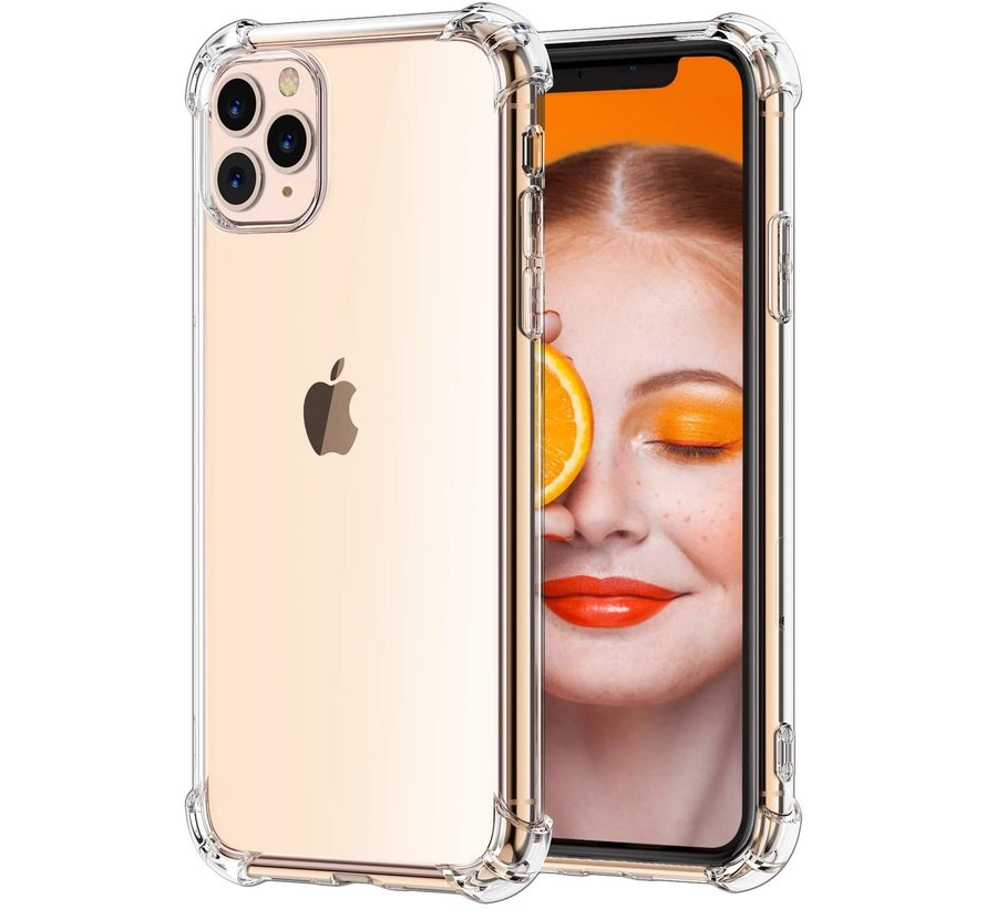 Iphone 11 pro max Hoesje/cover siliconen anti-shock transparant