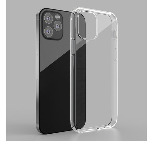 JVS Products iPhone 12 Pro Transparant Back Cover Hoesje - Extra Dun - Siliconen - Cover- Case - Apple iPhone 12 Pro