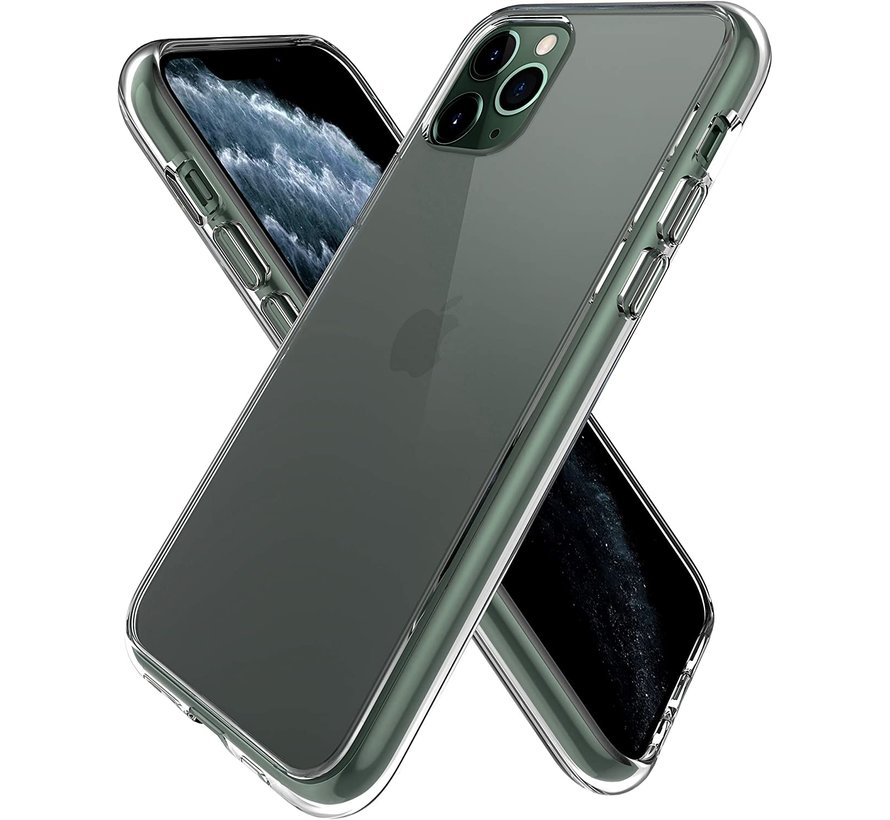 iPhone 11 Pro Max hoesje/cover siliconen extra dun transparant
