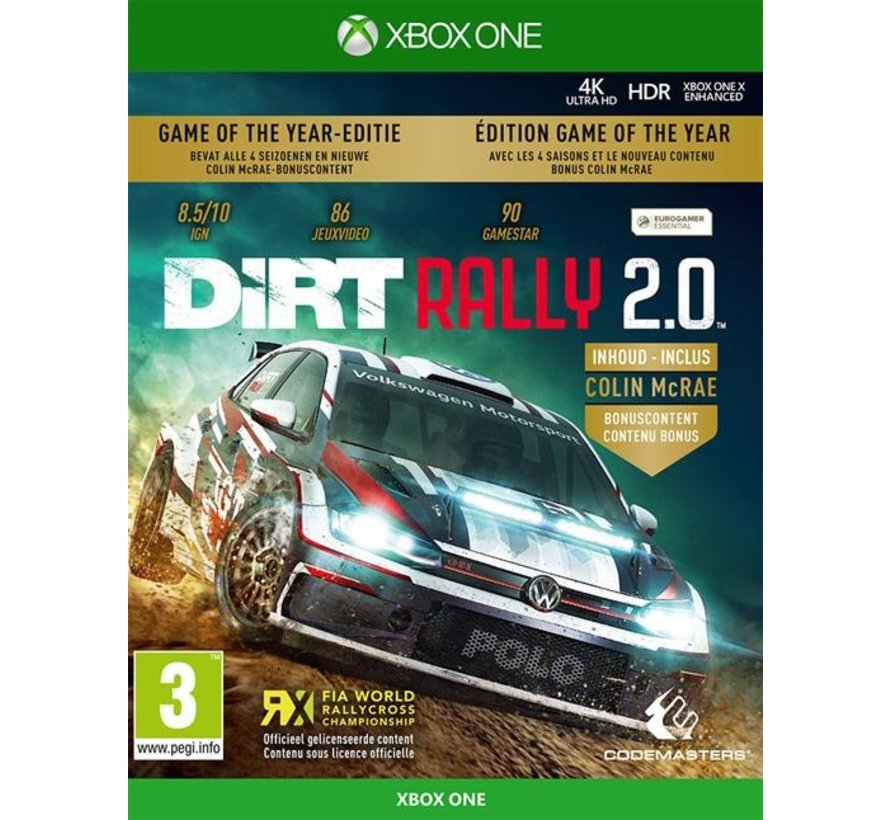 Xbox One DiRT Rally 2.0 Game of the Year Edition