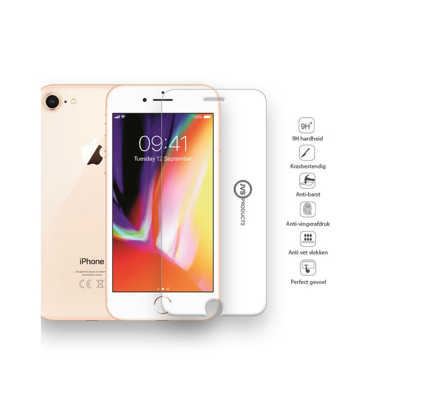 iPhone 8 Tempered Glass Screenprotector Protection Kit - Apple iPhone 8 - Screen Protector Set