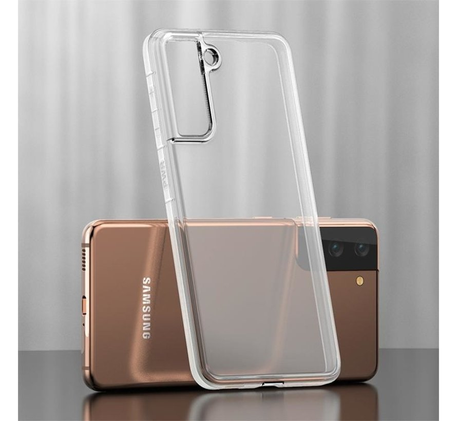 Galaxy s21 hoesje siliconen extra dun transparant - Samsung Galaxy S21 hoes cover case