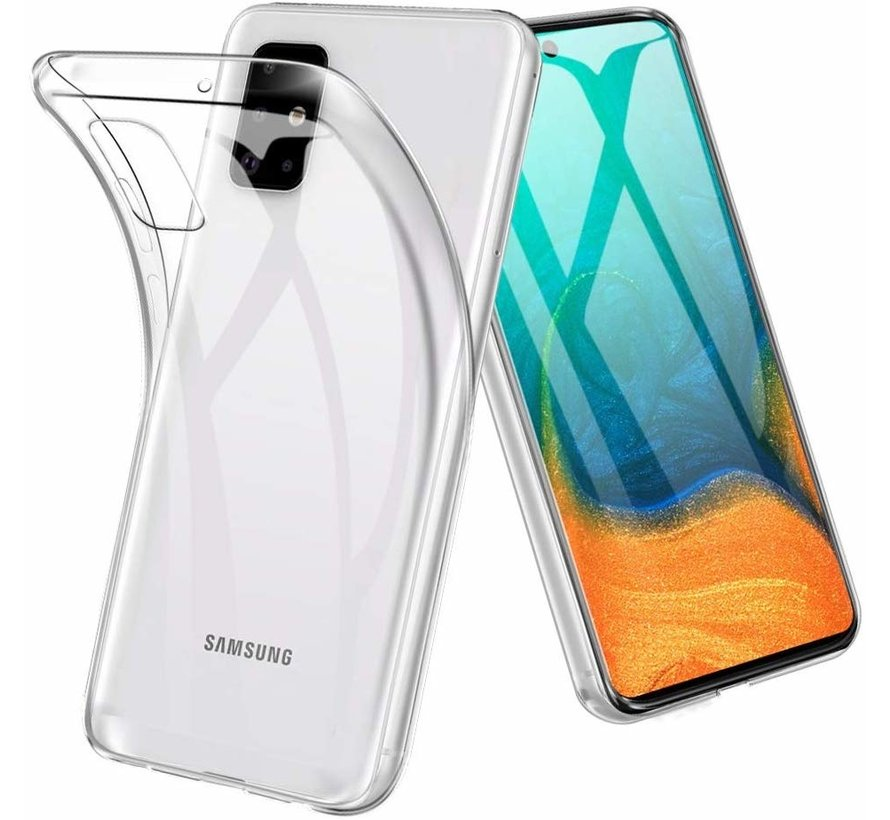 Samsung Galaxy A71 Transparant Back Cover Hoesje - Extra Dun - Siliconen - Cover- Case - Samsung Galaxy A71