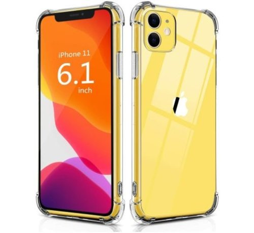 JVS Products iPhone 11 Transparant Anti-Shock Back Cover Hoesje - Cover - Siliconen - Schokbestendig - Apple iPhone 11