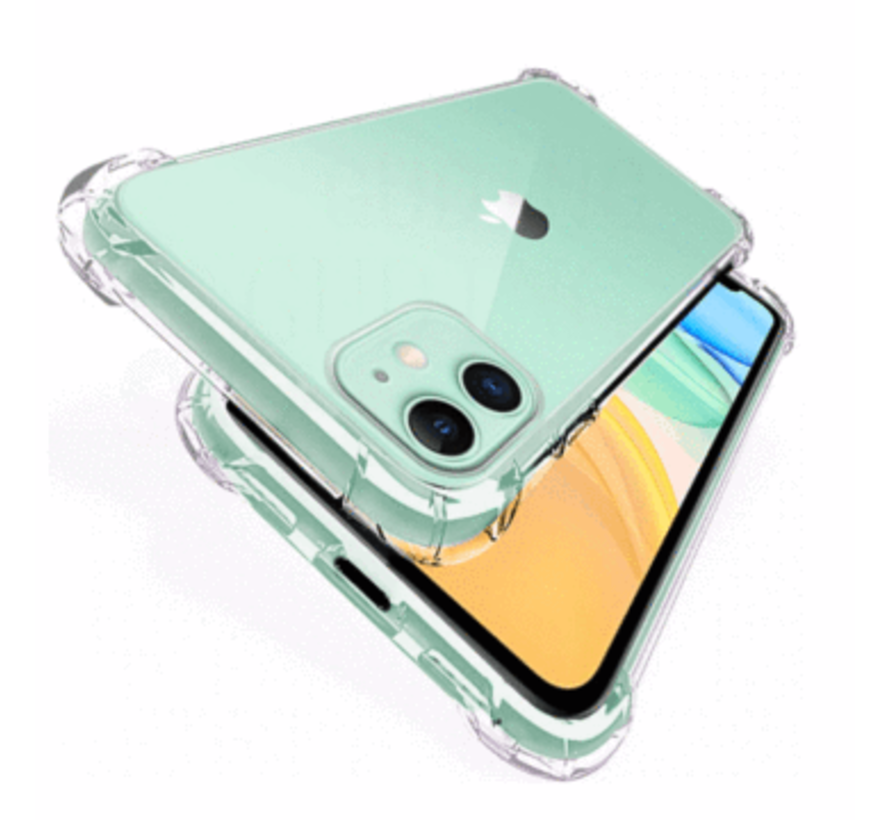 iPhone 11 Transparant Anti-Shock Back Cover Hoesje - Cover - Siliconen - Schokbestendig - Apple iPhone 11