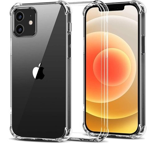 JVS Products iPhone 12 Transparant Anti-Shock Back Cover Hoesje - Cover - Siliconen - Schokbestendig - Apple iPhone 12