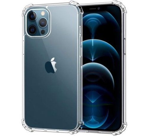 JVS Products iPhone 12 Pro Transparant Anti-Shock Back Cover Hoesje - Cover - Siliconen - Schokbestendig - Apple iPhone 12 Pro