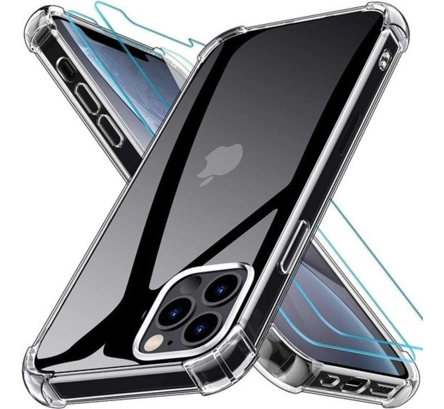 iPhone 12 Pro Max Anti Shock Hoesje Transparant Extra Dun Apple iPhone 12 Pro Max hoes cover case
