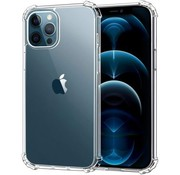 JVS Products iPhone 12 Pro Max Transparant Anti-Shock Back Cover Hoesje - Cover - Siliconen - Schokbestendig - Apple iPhone 12 Pro Max