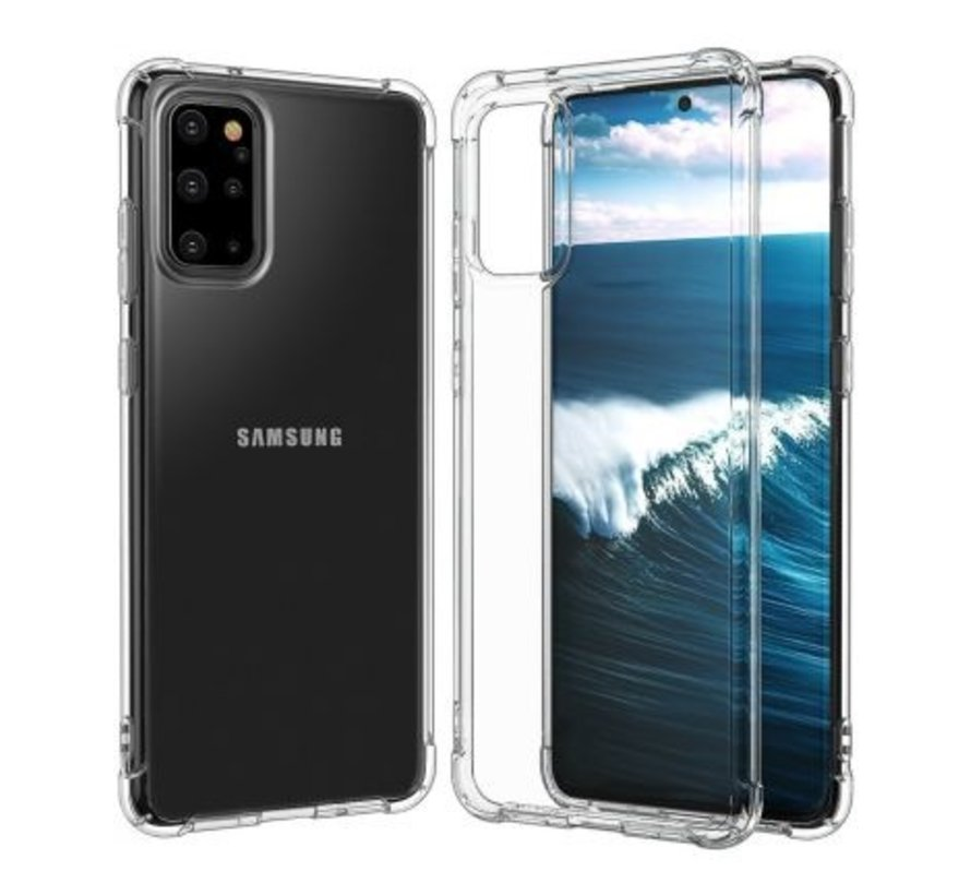 Galaxy S20 Plus Anti Shock Hoesje Transparant Extra Dun Samsung Galaxy S20 Plus hoes cover case