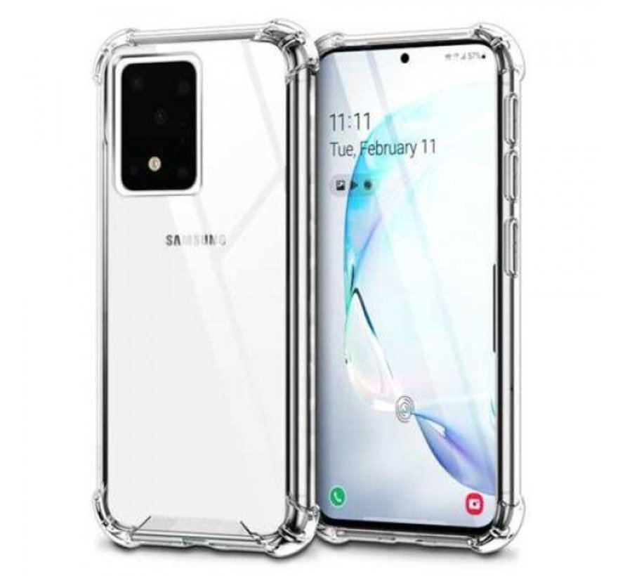 Galaxy S20 Ultra Anti Shock Hoesje Transparant Extra Dun Samsung Galaxy S20 hoes cover case