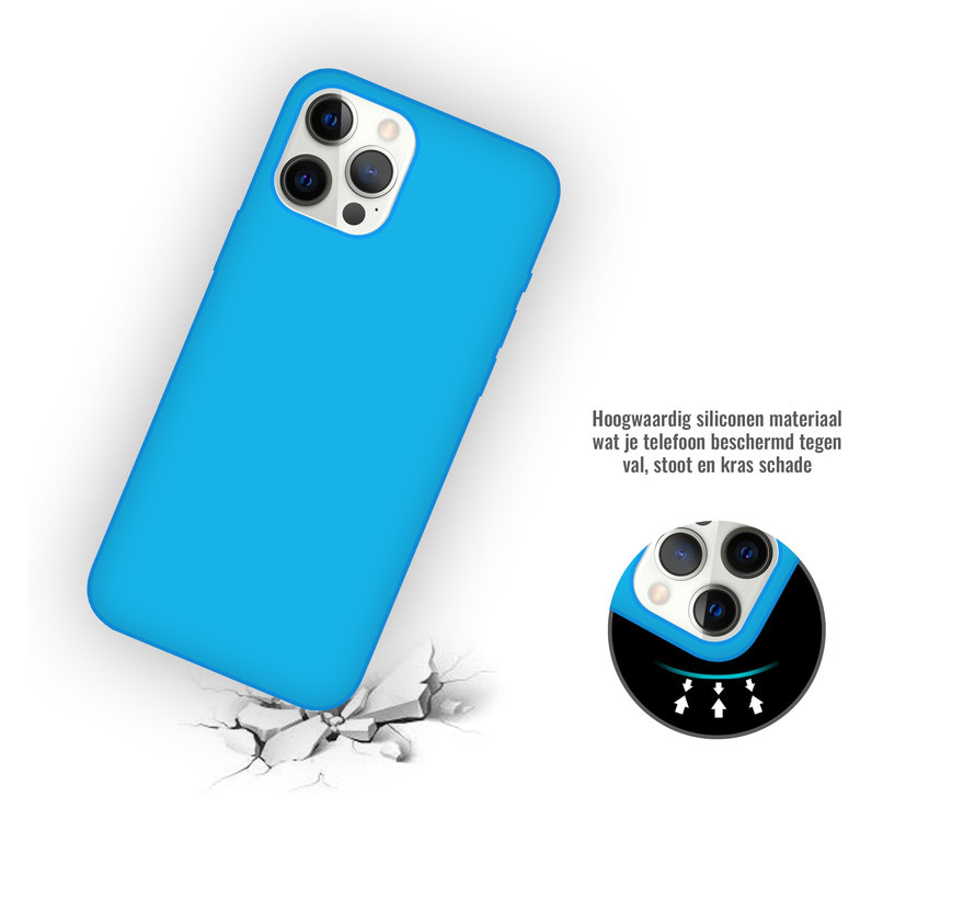 iPhone 11 Pro Max Back Cover Hoesje - Siliconen - Case - Backcover - Apple iPhone 11 Pro Max - Turquoise