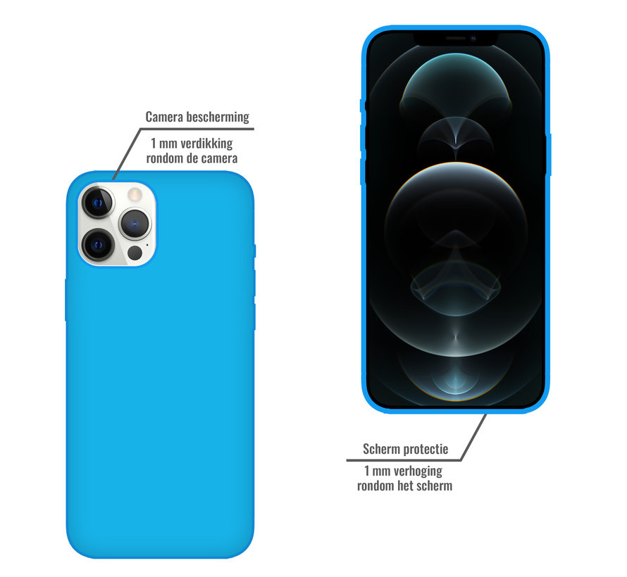 iPhone 11 Pro Max Case Hoesje Siliconen Back Cover - Apple iPhone 11 Pro Max - Turquoise