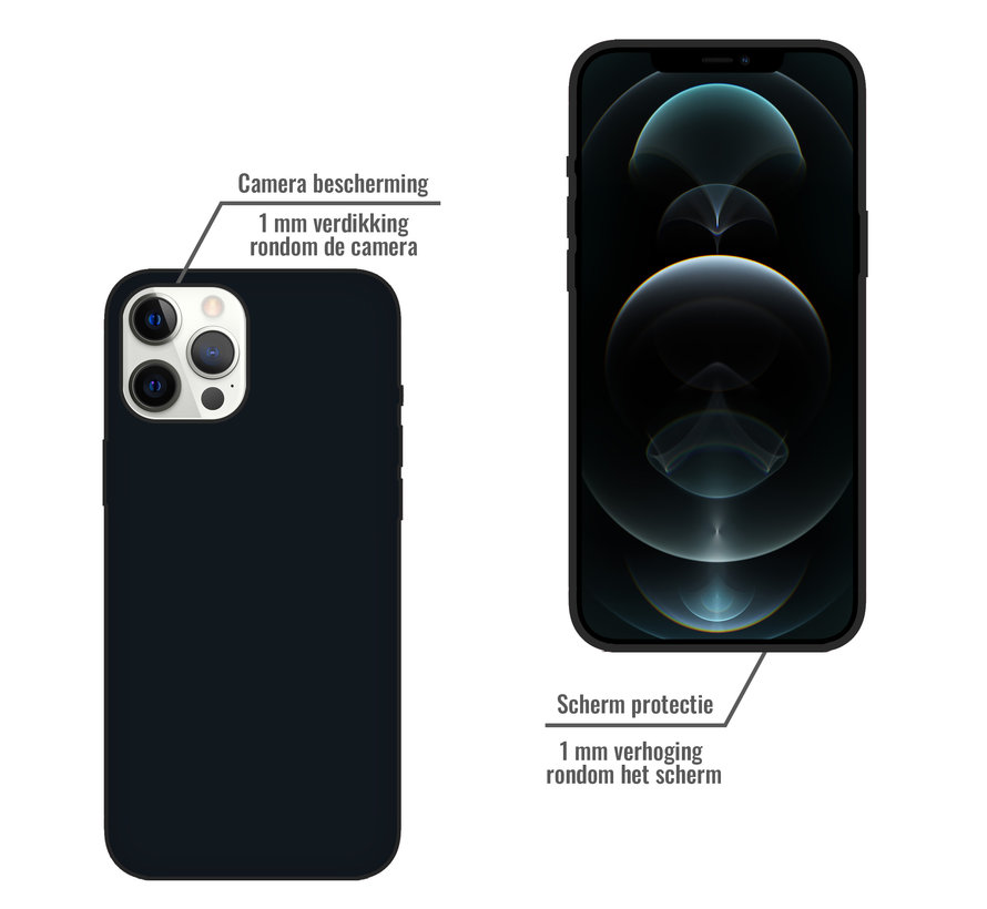 iPhone XR Back Cover Hoesje - Siliconen - Case - Backcover - Apple iPhone XR - Zwart