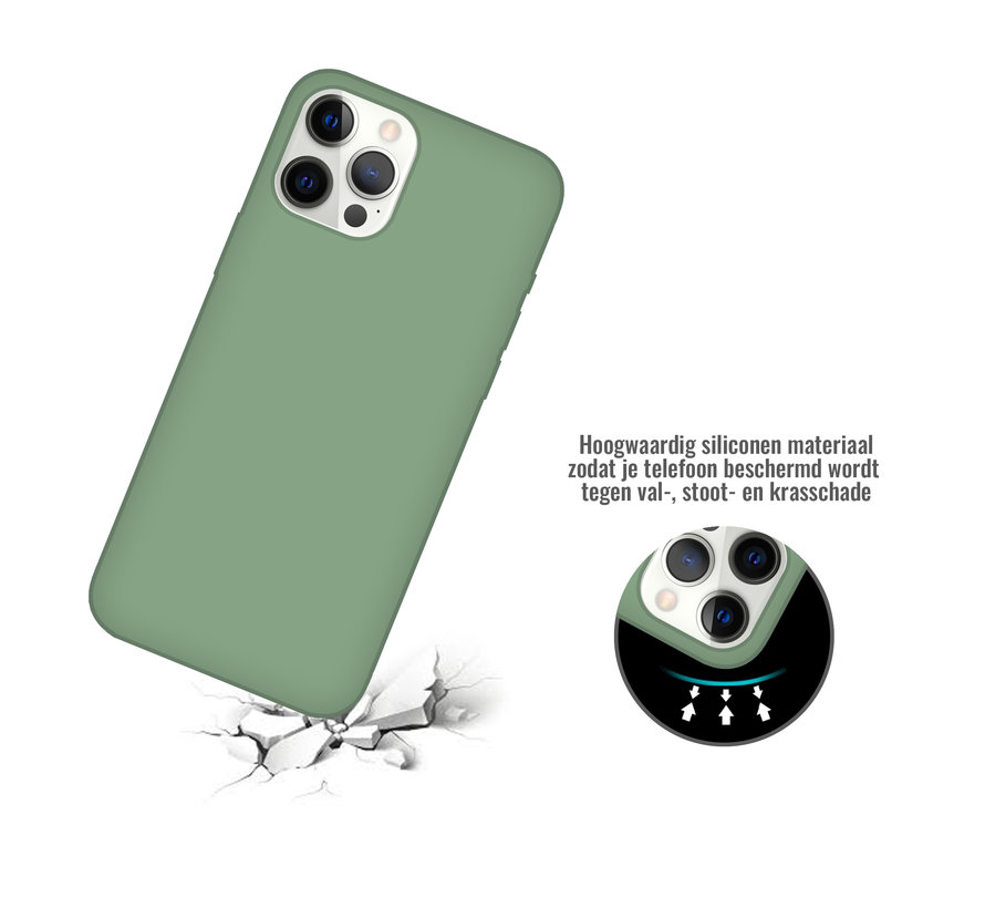 iPhone XR Back Cover Hoesje - Siliconen - Case - Backcover - Apple iPhone XR - Saliegroen