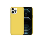 JVS Products iPhone XR Case Hoesje Siliconen Back Cover - Apple iPhone XR - Geel