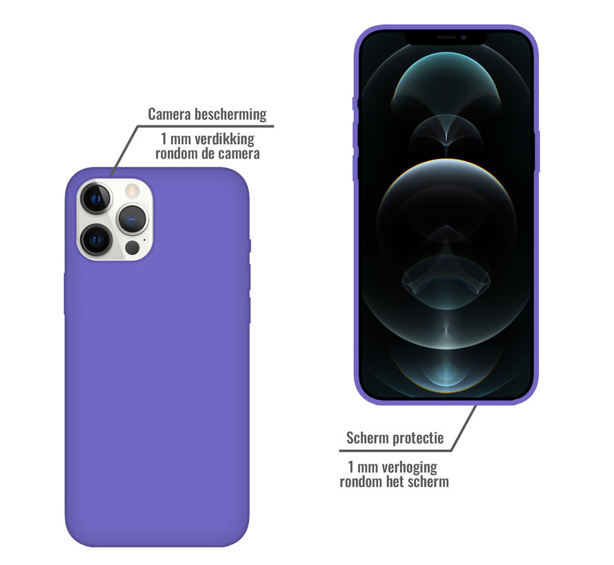 iPhone XR Back Cover Hoesje - Siliconen - Case - Backcover - Apple iPhone XR - Paars