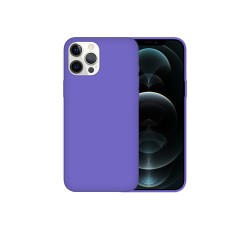 JVS Products iPhone XR Back Cover Hoesje - Siliconen - Case - Backcover - Apple iPhone XR - Paars