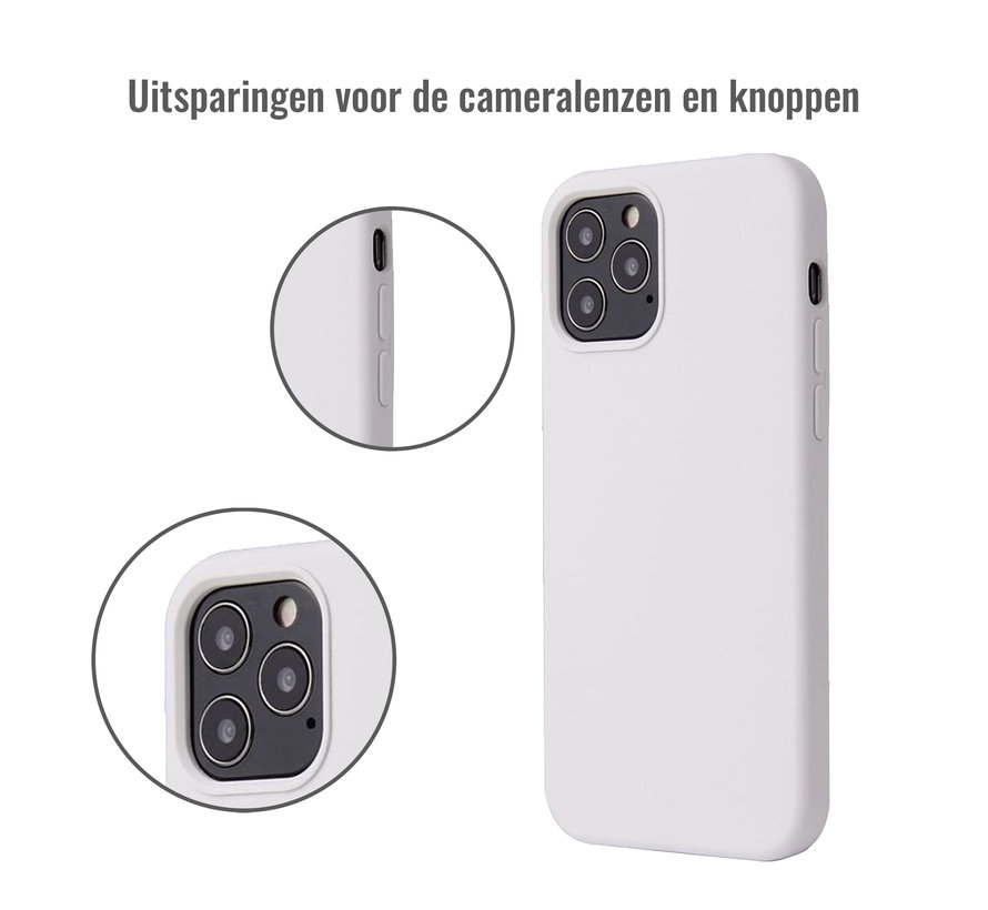 iPhone XR Case Hoesje Siliconen Back Cover - Apple iPhone XR - Wit