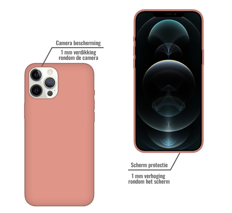 iPhone 11 Back Cover Hoesje - Siliconen - Case - Backcover - Apple iPhone 11 - Zalmroze