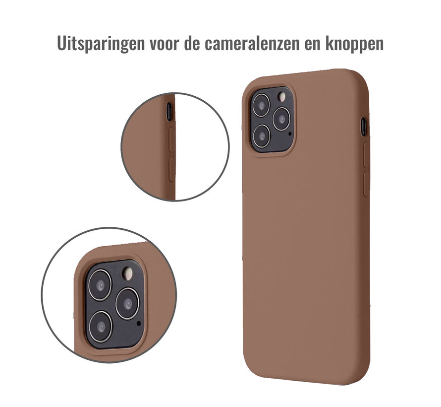 iPhone 11 Case Hoesje Siliconen Back Cover - Apple iPhone 11 - Bruin