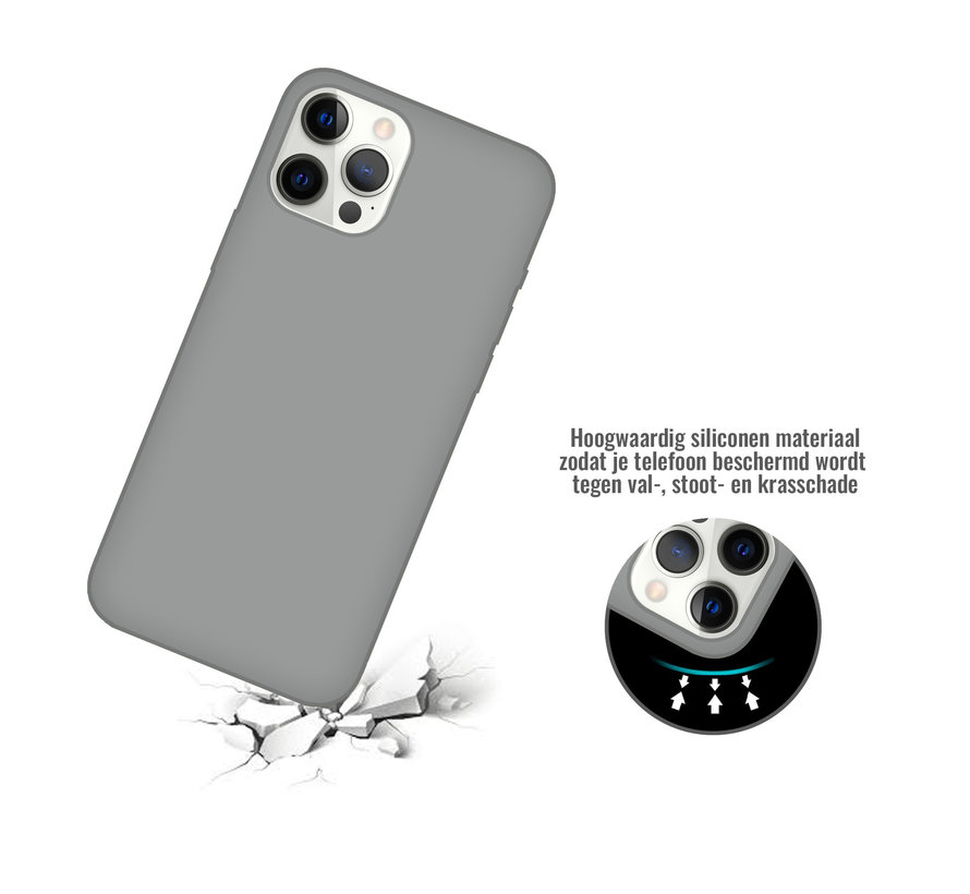iPhone 11 Pro Back Cover Hoesje - Siliconen - Case - Backcover - Apple iPhone 11 Pro - Grijs