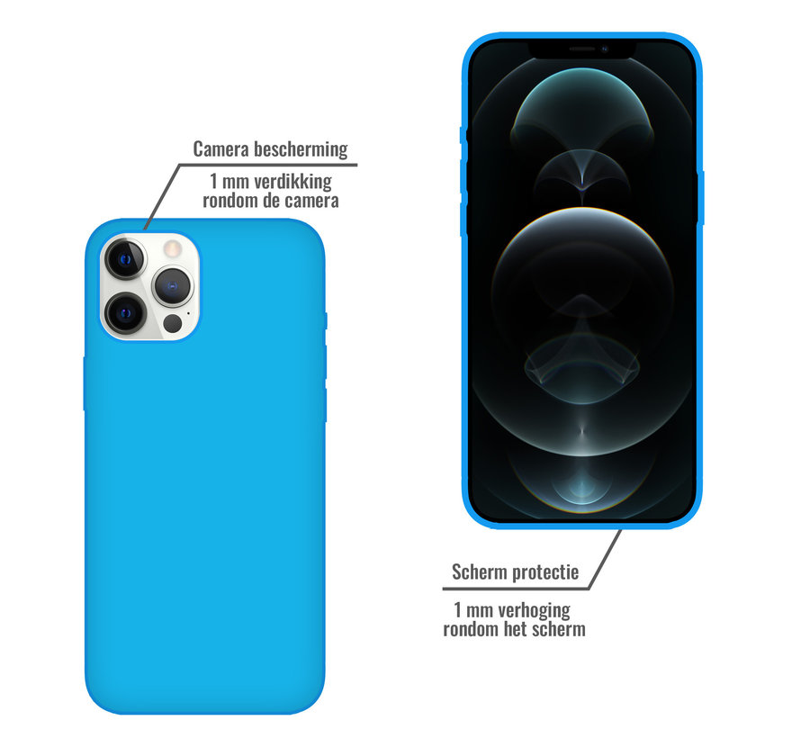 iPhone 11 Pro Case Hoesje Siliconen Back Cover - Apple iPhone 11 Pro - Turquoise