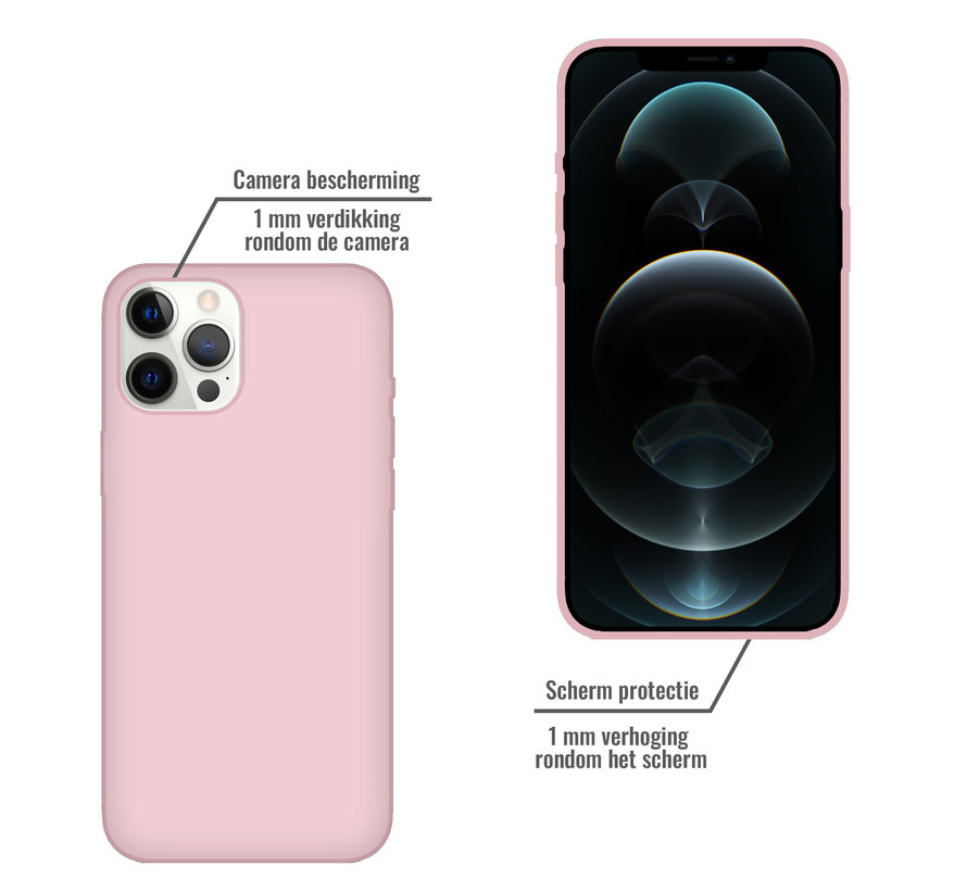 iPhone 11 Pro Case Hoesje Siliconen Back Cover - Apple iPhone 11 Pro - Oudroze