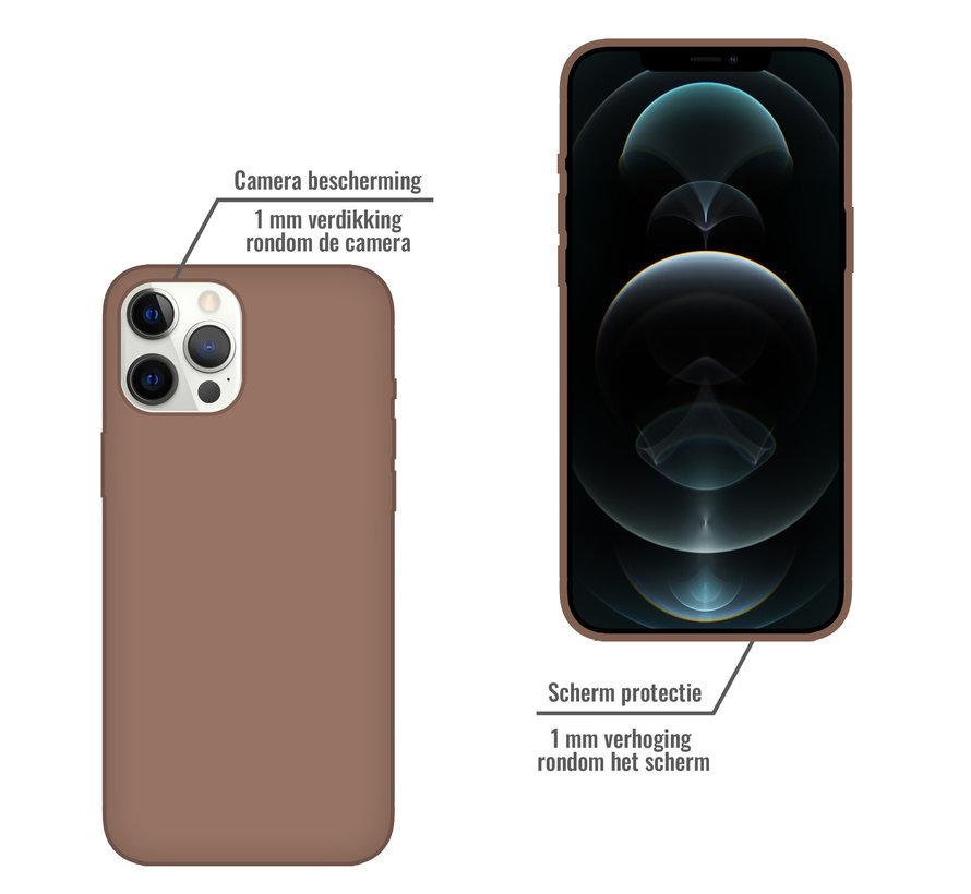 iPhone 11 Pro Max Back Cover Hoesje - Siliconen - Case - Backcover - Apple iPhone 11 Pro Max - Bruin