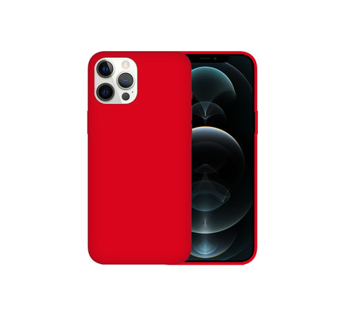 JVS Products iPhone 12 Back Cover Hoesje - Siliconen - Case - Backcover - Apple iPhone 12 - Rood
