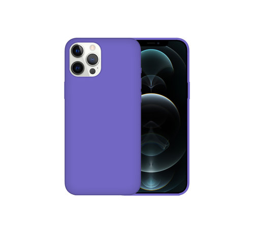 JVS Products iPhone 12 Back Cover Hoesje - Siliconen - Case - Backcover - Apple iPhone 12 - Paars